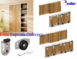 ares sliding wardrobe door track kit for diy bottom rolled for doors up to 70kg