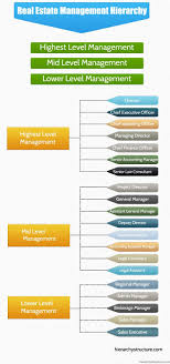 Real Estate Management Hierarchy Organizational Management