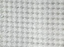white rag rug red