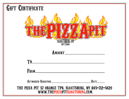 dinner gift certificate template choice image templates exle certificate pizza gift certificate template best of latest