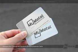 Stainless Steel Business Cards Aluminum Business Cards World Leader In Metal Business Cards