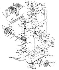 Sears craftsman 919 176311 176330 air pressor parts simple diagram