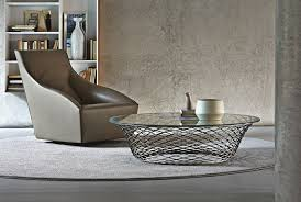 modern round glass coffee table decorating ideas