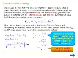 13 this is the escape velocity of the mass gravitational potential energy we can use