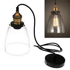 details about vintage cafe glass pendant light industrial antique style ceiling hanging lamps