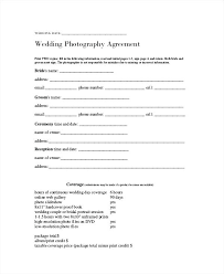 Unique Photograph Of Wedding Photography Contract Template Word ...