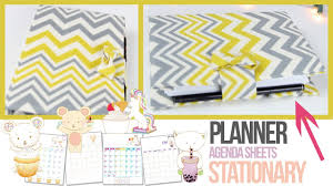 how to make a agenda agenda tutorial planner stationery how to make your own