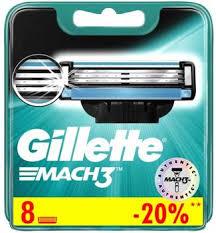 Купить Сменные лезвия <b>Сменные кассеты Gillette Mach3</b>, 8 шт. в ...