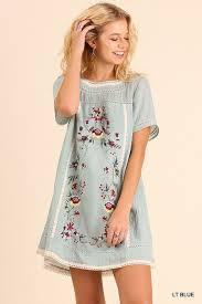 Gozon Size Chart Lindsey Floral Embroidered Dress Light Blue Gozon