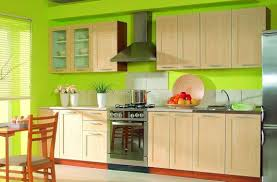 kitchen wall colors with oak cabinets. Bright Green Kitchen Wall Colors And White Oak Cabinets Silver Appliances With