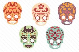 These free svg cutting files are compatible with cricut, cameo silhouette and other major cut machines. Sugar Skull Set Svg Cut File By Creative Fabrica Crafts Creative Fabrica