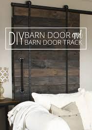 diy barn door and barn door track