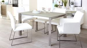 frosted glass dining set frosted glass extending dining table with brushed metal legs frosted glass dining