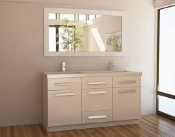 white single sink bathroom vanities. Design Elements J60-DS-W Moscony 60\ White Single Sink Bathroom Vanities E