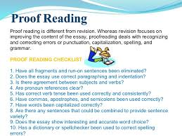 essay writing power point  proof reading