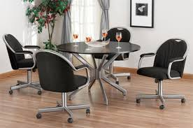 casual dining chairs with casters:  rolling dining room chairs rolling dining room chairs home ideas alfa dinettes caster dinette sets rolling