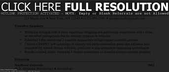 Executive Summary Resume Resume For Study