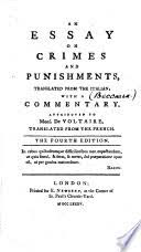 an essay on crimes and punishments cesare ese di beccaria  an essay on crimes and punishments · cesare ese di beccaria full view 1785