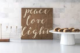 new hanukkah decor shop launch peace love light chai and home