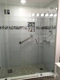 shower door pull handle 3 8 glass to glass hinge door swings in out with a