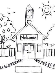 Open House Coloring Pages School House Coloring Pages School House