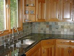 I Kitchen Tile Ideas With Oak Cabinets Floor  For