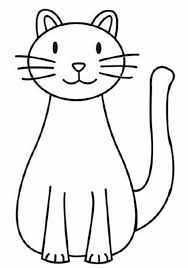 Kitty cat hot air balloon. A Simple Drawing Of Kitty Cat Coloring Page Kids Play Color