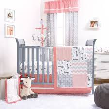uptown girl c grey giraffe chevron zig zag baby crib bedding 11 piece set