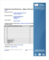 11+ Construction Business Proposal Templates - Free Sample, Example ...