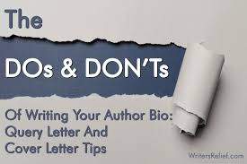 cover letter dos and don ts the dos and donts of writing your author bio query letter
