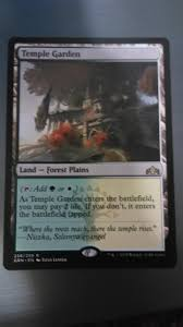 temple garden temple garden guilds of ravnica magic the gathering gaming for cards miniatures singles packs booster bo