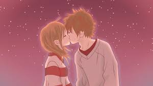cute anime couple hd photo