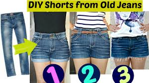 DIY: 3 <b>Easy</b> Ways to Turn <b>Jeans</b> Into Shorts || Shorts from Old <b>Jeans</b> ...