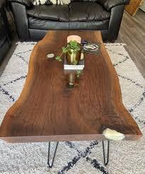 live edge coffee table sofa table
