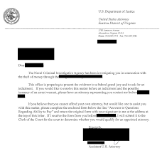 Urgent Federal Target Letter Us Attorney Office Pre Indictment