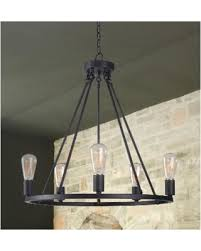 craft metal lighting. Pine Canopy Lincoln 5 Light Chandelier (Collider Chandelier), Black Craft Metal Lighting