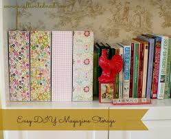 Pretty Magazine Holders Extraordinary DIY Pretty Magazine Storage Boxes