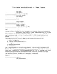 Cover Letter Career Change Resume Cover Letter Career Change