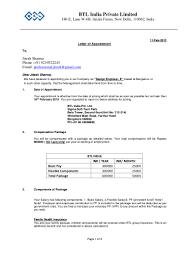 appointment letter jitesh sharma
