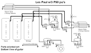 three pickup les paul wiring diagram three discover your wiring les paul 3 pickup wiring diagram nodasystech