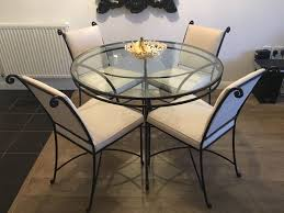 Marks  Spencer Wrought Iron Glass Round Table  Chairs Very - Marks and spencer dining room chairs