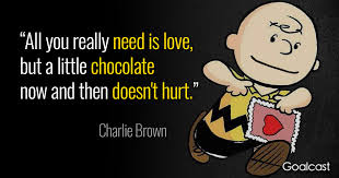 Chocolate Love Quotes Amazing Charlie Brown Quotes On Love And Chocolate Goalcast