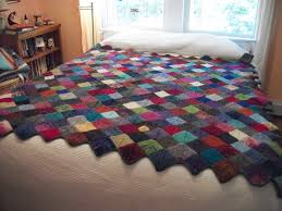 Turkey Tracks: Knitted Quilt | Louisa Enright's Blog & Knitted quilt 1 Adamdwight.com