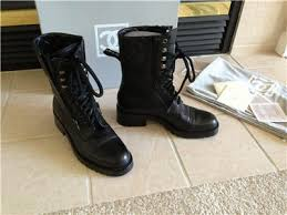 chanel combat boots. chanel quilted black motorcycle combat leather boots 8 38 $1495 b