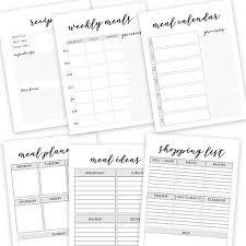 Free Printables Meal Planner Sheets Designer Printables