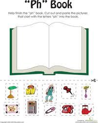 A printable worksheet designed to teach beginning blends bl. Ph Words A Word Family Book Worksheet Education Com