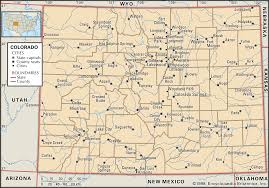 Colorado Mileage Chart Colorado Flag Facts Maps Points Of Interest Britannica