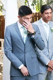 Groom Light Grey Suit Groom In Light Grey Suit Peterson Design Photography