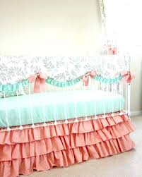 c and mint baby bedding mint crib bedding leafy dreams baby peach version c mint gold