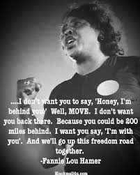 Fannie Lou Hamer Quote B W Cameo Black History Facts